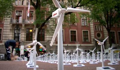Eneco maakt van Beursplein grootste windmolenpark