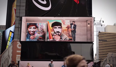 Hyundai Brilliant interactive art' at Times Square