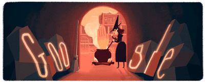 Google ハッピーハロウィンで、リロードすると変わるアニメーションロゴに!