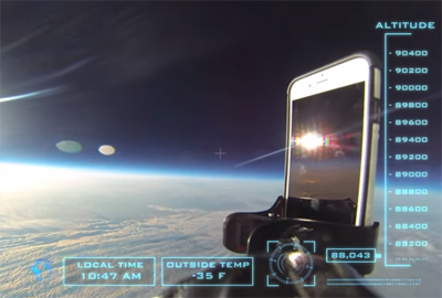 iPhone 6 in Space! HD balloon flight to 101,000 Feet