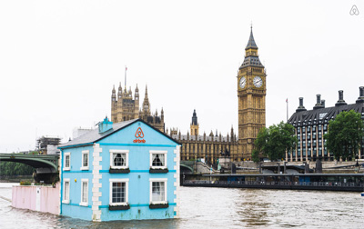 Floating House listed on Airbnb in London