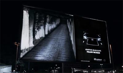 Lexus LS - Follow the road