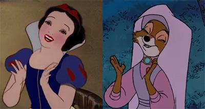 Walt Disney Recycled Animation Scenes