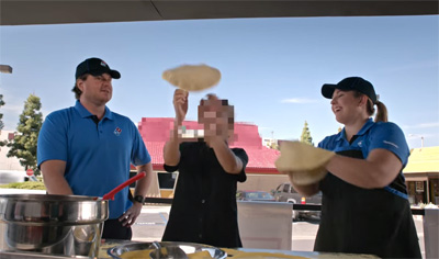 Domino's Pizza School Visiting the Competition