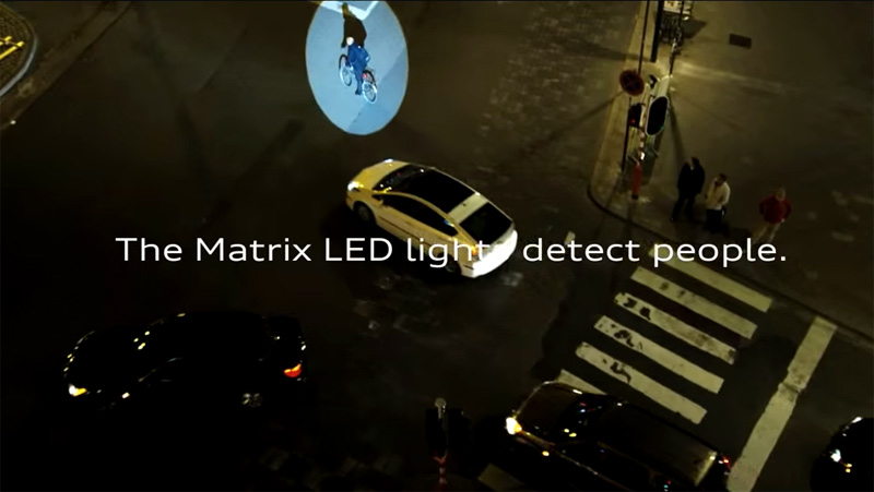 The new Audi A4 puts pedestrians in the spotlight