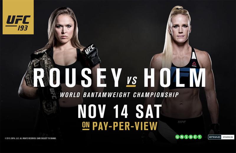 UFC 193 Ronda Rousey vs. Holly Holm - Revolution