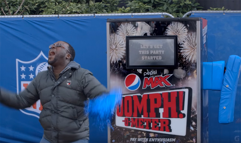 The Oomph!-o-meter at NFL Wembley