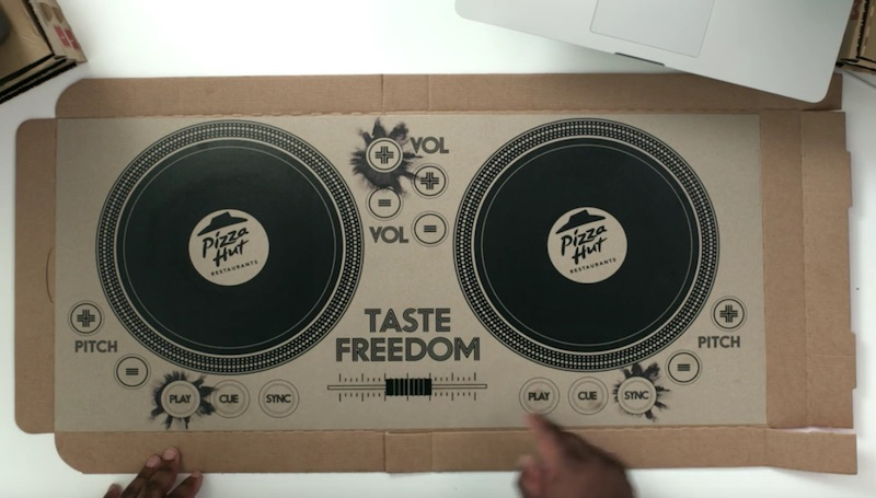 the world's first playable DJ pizza box