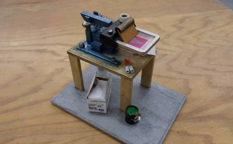 Miniature T-Shirt Printing Rig