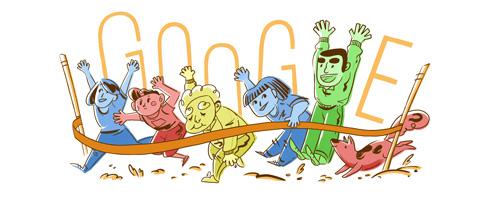 Google 体育の日50周年記念ロゴに!