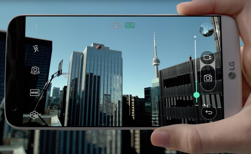 The game-changing LG G5 challenges Toronto's Cory Joseph to the ultimate long shot