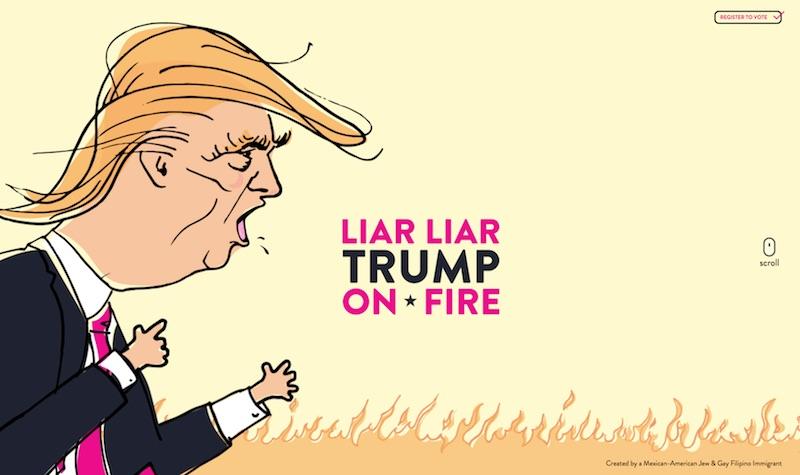 Liar Liar Trump on Fire