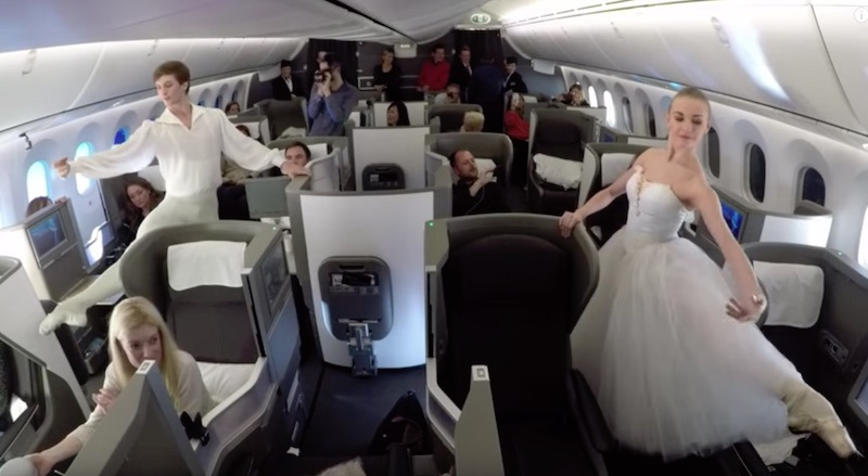 World's first ballet and musical performance at 41,000 feet