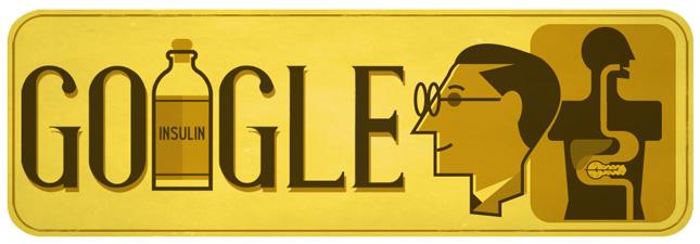 Google サー・フレデリック・バンティング生誕125周年記念ロゴに!