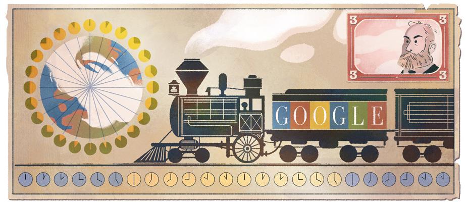 Google サー・サンドフォード・フレミング生誕190周年記念ロゴに!