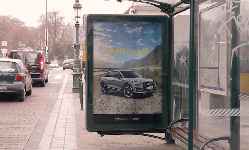 Audi Q2- Untaggable billboard