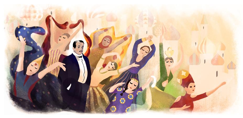 Google ロシアの芸術プロデューサー、セルゲイ・ディアギレフ生誕145周年ロゴに!