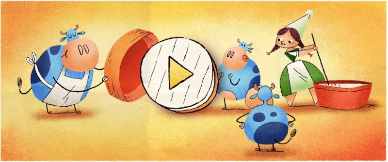 Google カマンベールチーズを発明したとされるマリー・アレル生誕256周年記念ロゴに!
