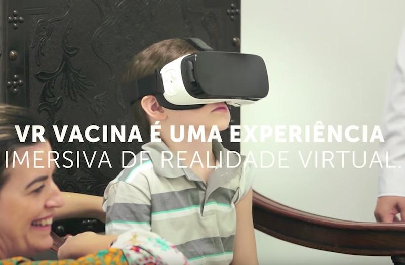 Realidade virtual transforma a experiência da vacinação infantil