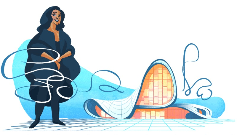 Google 建築家ザハ・ハディッドを称えたロゴに!