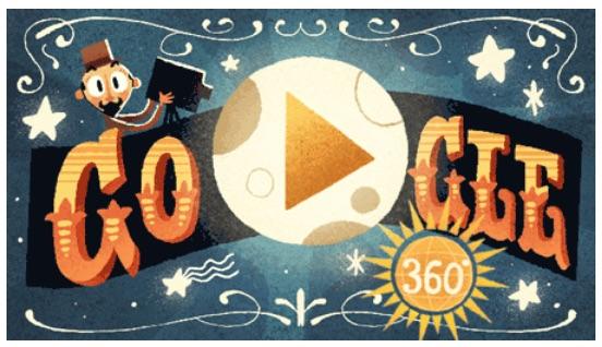 Google 映画監督のジョルジュ・メリエスを称えて、初のVR & 360° インタラクティブ Doodleに!