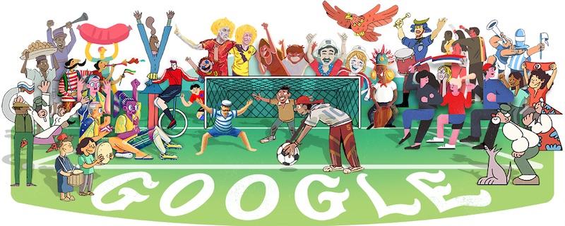 Google 世界32カ国のイラストレーターが参加。今日開幕するFIFAワールドカップロシア大会 - 1 日目ロゴに!