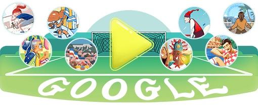 Google 2018年ワールドカップ - 3 日目ロゴに!