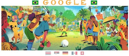 Google 2018年ワールドカップ - 4 日目ロゴに!