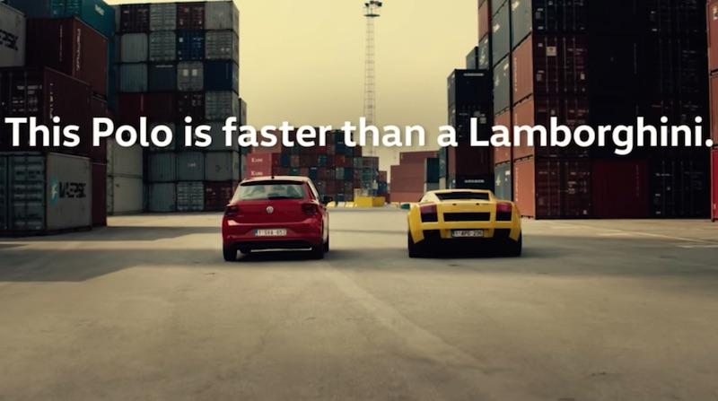 This Polo is faster than a Lamborghini.