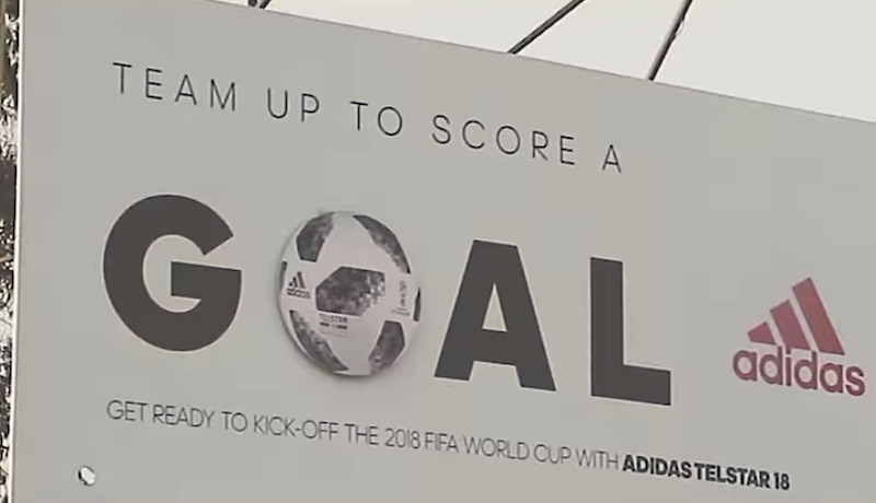 adidas woke up an entire neighborhood to celebrate Football.