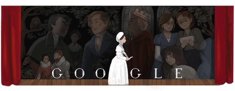 Google ジョアンナ・ベイリー生誕256周年記念ロゴに!