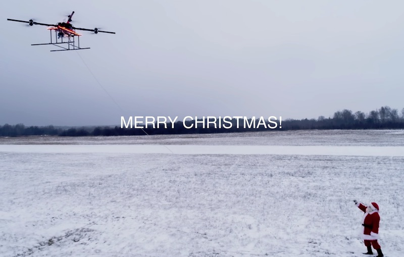 AIRBOARD – HUMAN FLYING DRONE WITH SANTA CLAUS IN CHRISTMAS