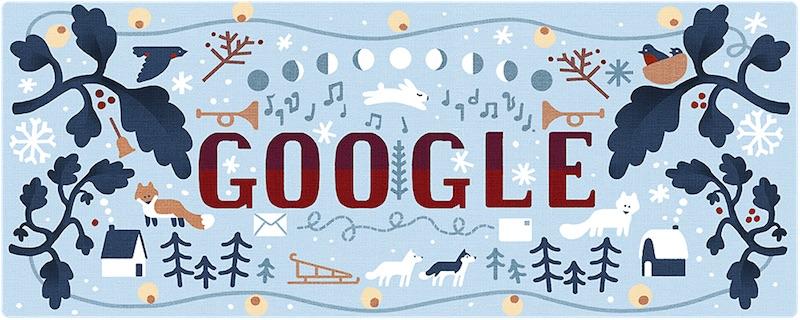 Google 2018年ホリデー シリーズ(3日目)ロゴに!