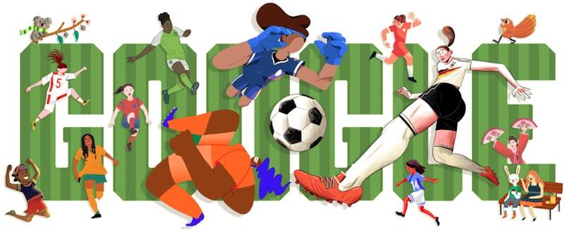 Google 2019年女子ワールドカップ - 1日目ロゴに!