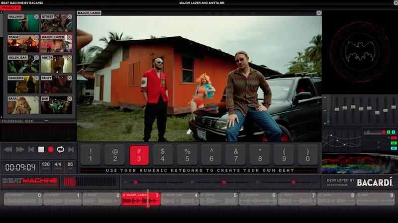 The Beat Machine by BACARDÍ | Major Lazer x Anitta MAKE IT HOT