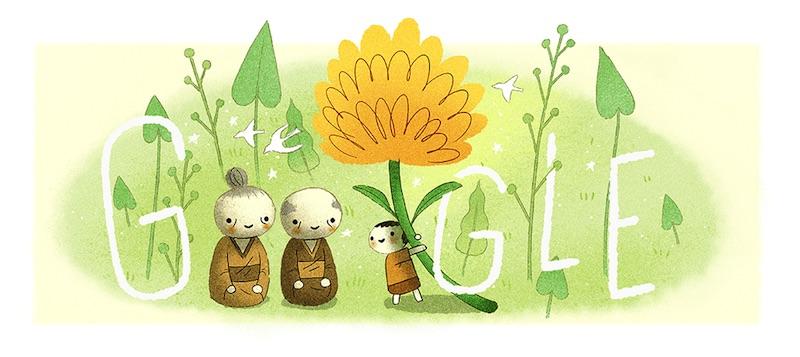 Google 敬老の日Doodleに!