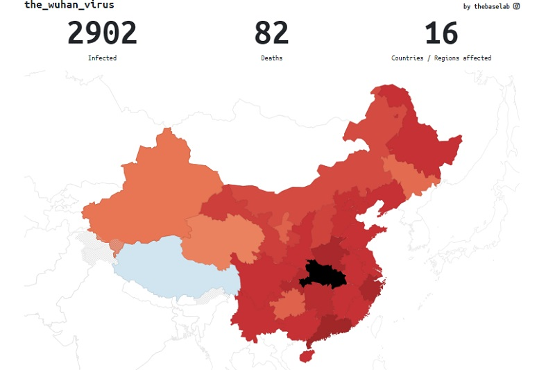 Real-time infection and death numbers of Wuhan Virus