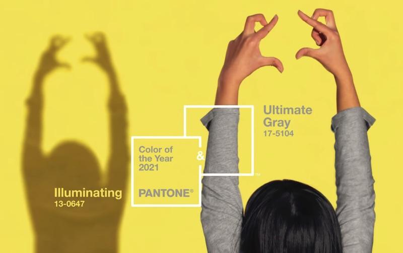 17-5104 Ultimate Gray + PANTONE 13-0647 Illuminating