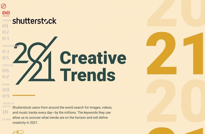 2021 Creative Trends Data-driven Design Trends | Shutterstock