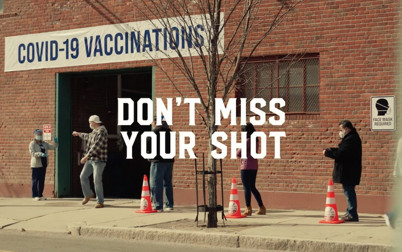 YOUR COUSIN FROM BOSTON GETS VACCINATED