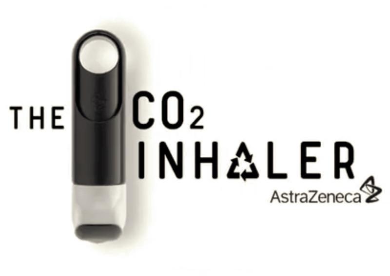 AstraZeneca C02 plastic inhaler