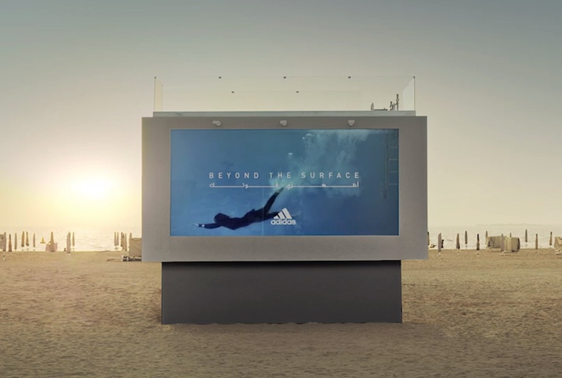 Adidas Liquid Billboard