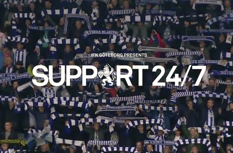 Support247 IFK Gothenburg brings the cheers to you